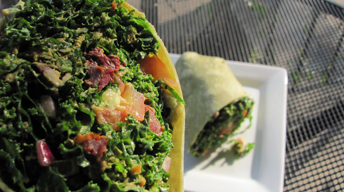 Photographed: 'Spicy Kale Wrap' from  Tassili's Raw Reality