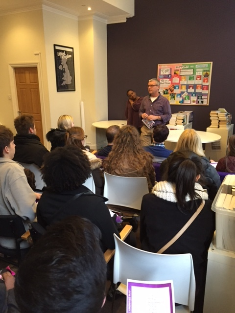 Orientation at NYU London, Bedford Square with Tony Skitt and members of the staff.