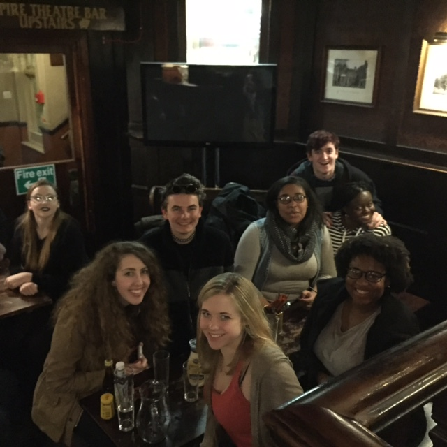 Some of the students at The Lamb after our welcome dinner.