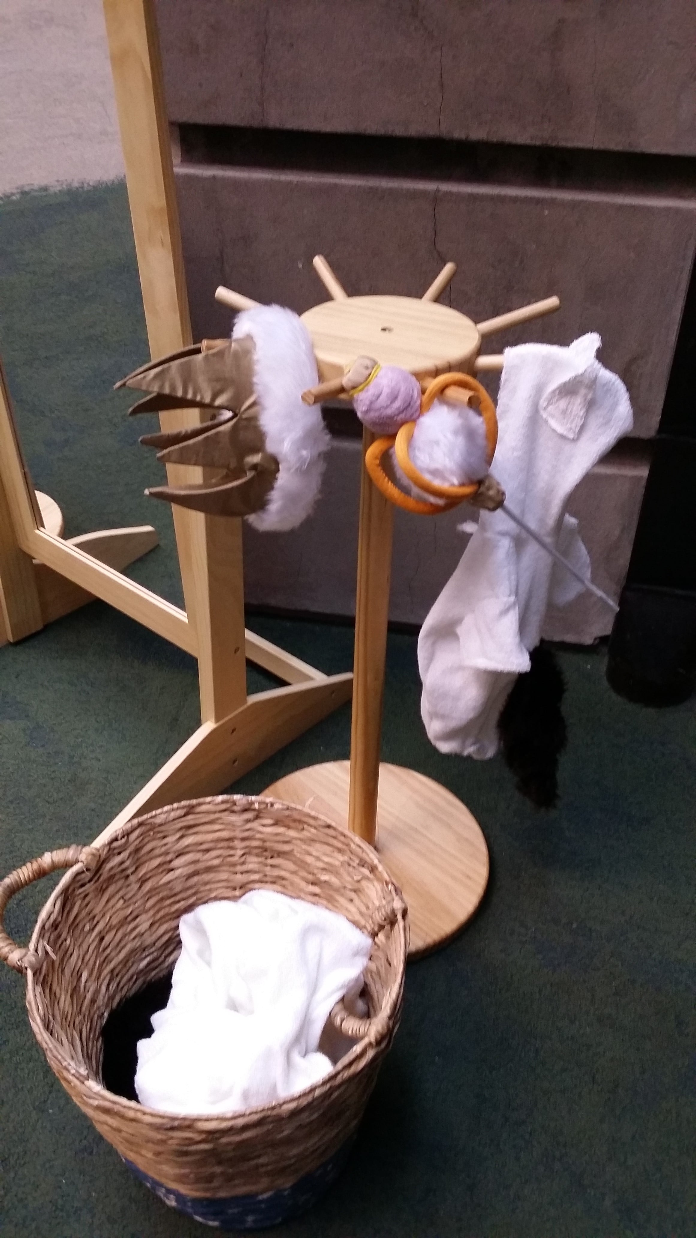 Max's crown and staff provide opportunities for imaginative role play.