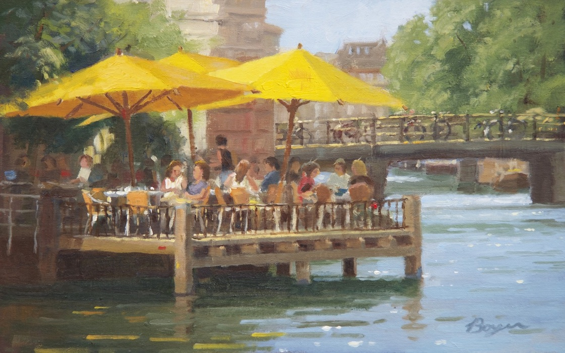 Canal Cafe 10x16  $1800.