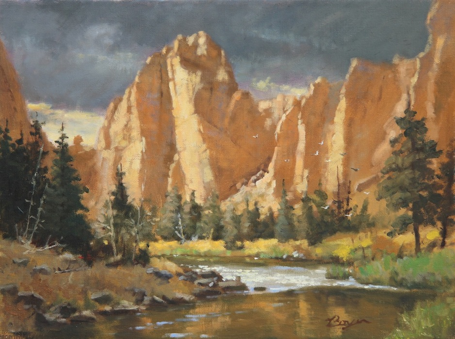 "Storm over Smith Rock 12x16  ""sold"""