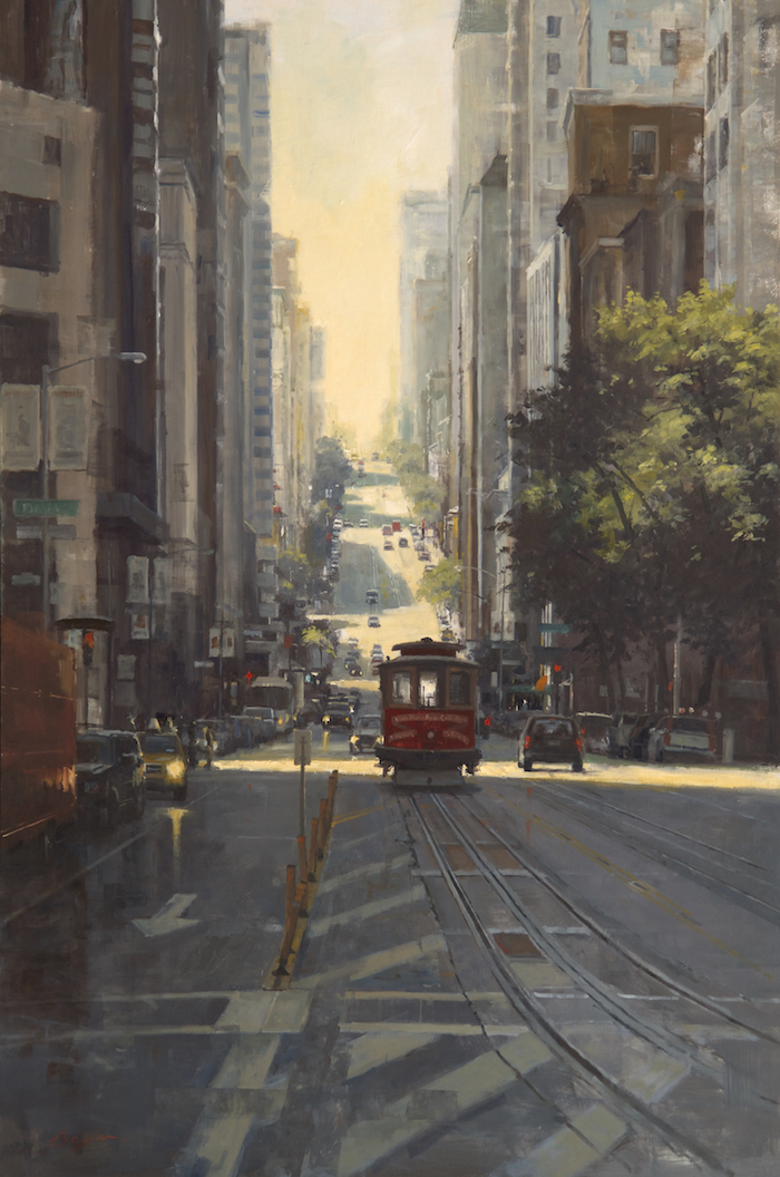 California Street Cable Car 60x40