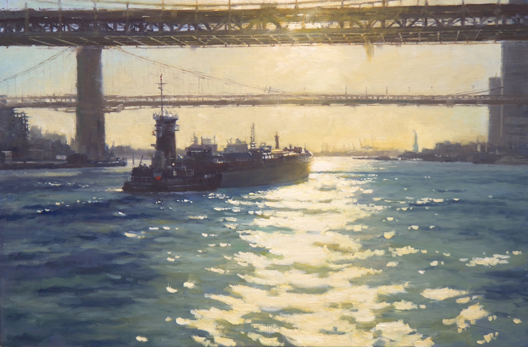 Departure from Manhattan 24x36