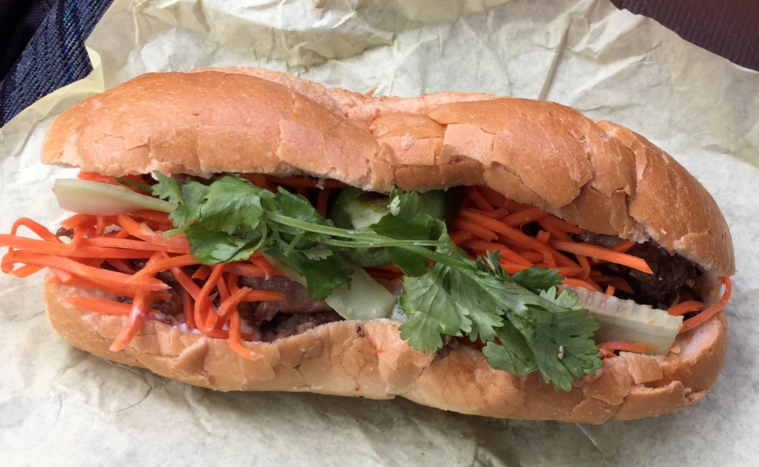 The name Yummy Banh Mi is accurate.