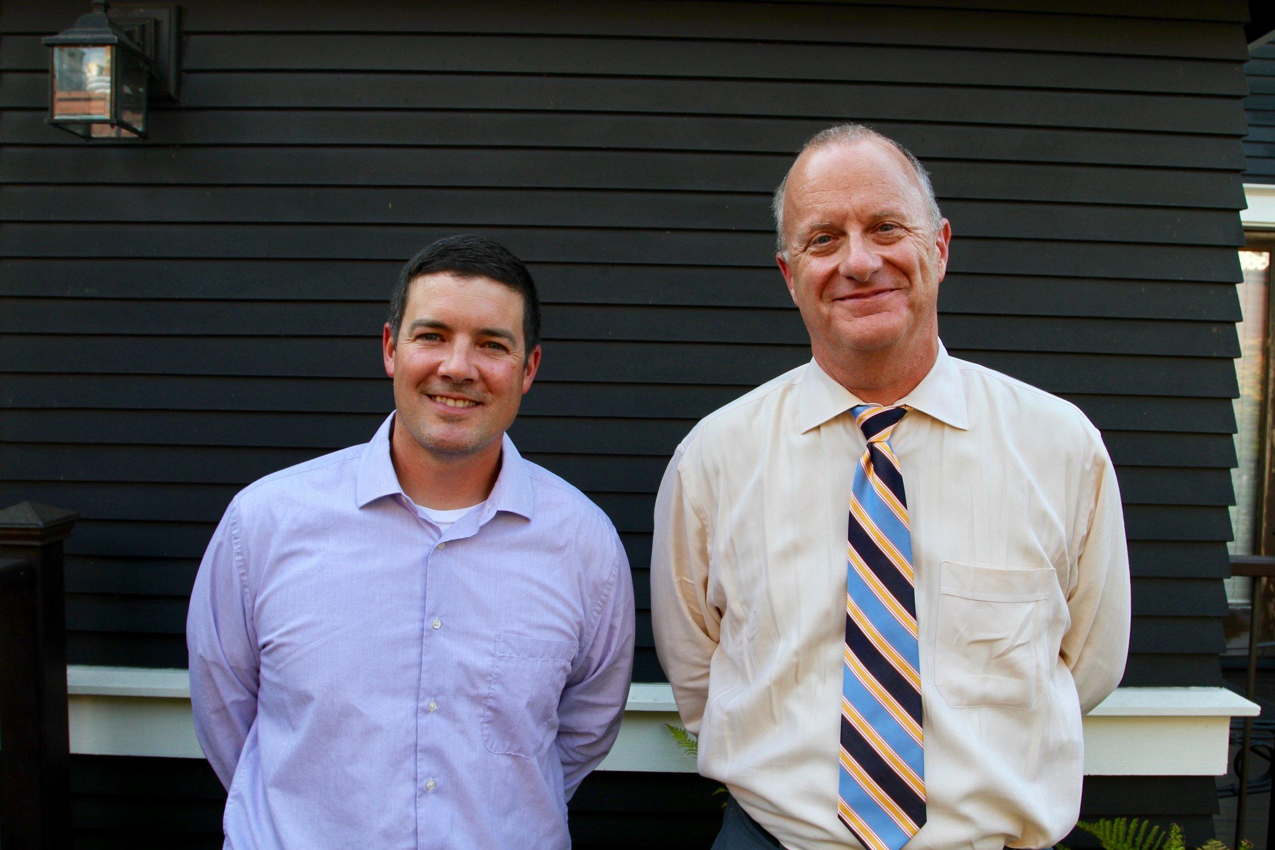 VP Joe Alonzo and Board Member Steve Erickson