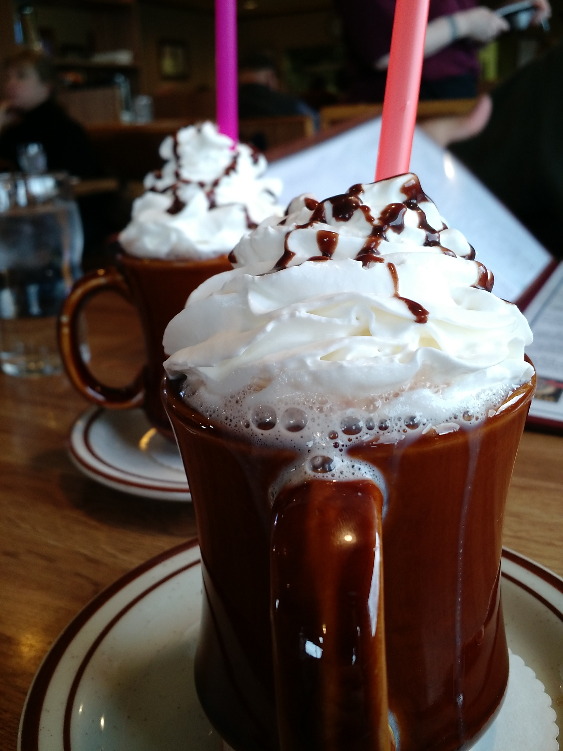 Breakfast isn't complete without some diner style hot chocolate.