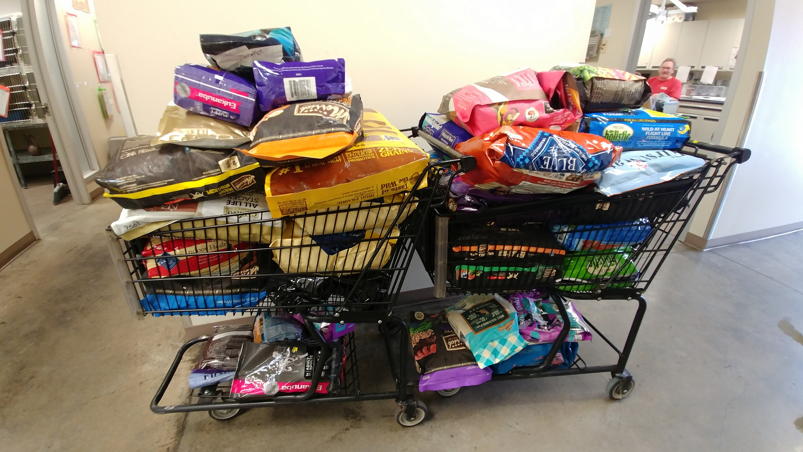 The latest batch of donated food. You can send them food and other items they need from their  Amazon wish list  // Christopher Bragg