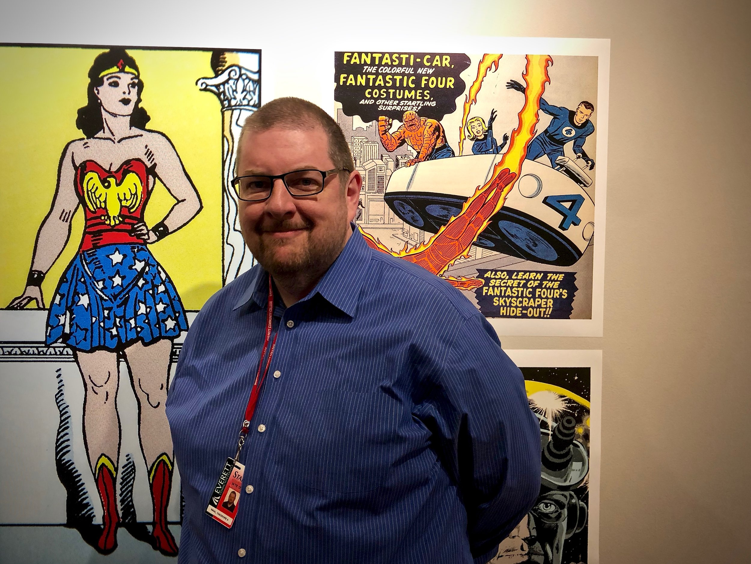 T. Andrew Wahl, journalism instructor and comic book historian // Henry J
