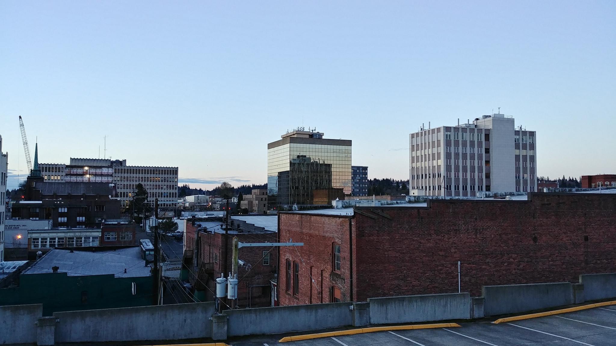 Downtown Everett from Port Gardner Parking // Christopher Bragg