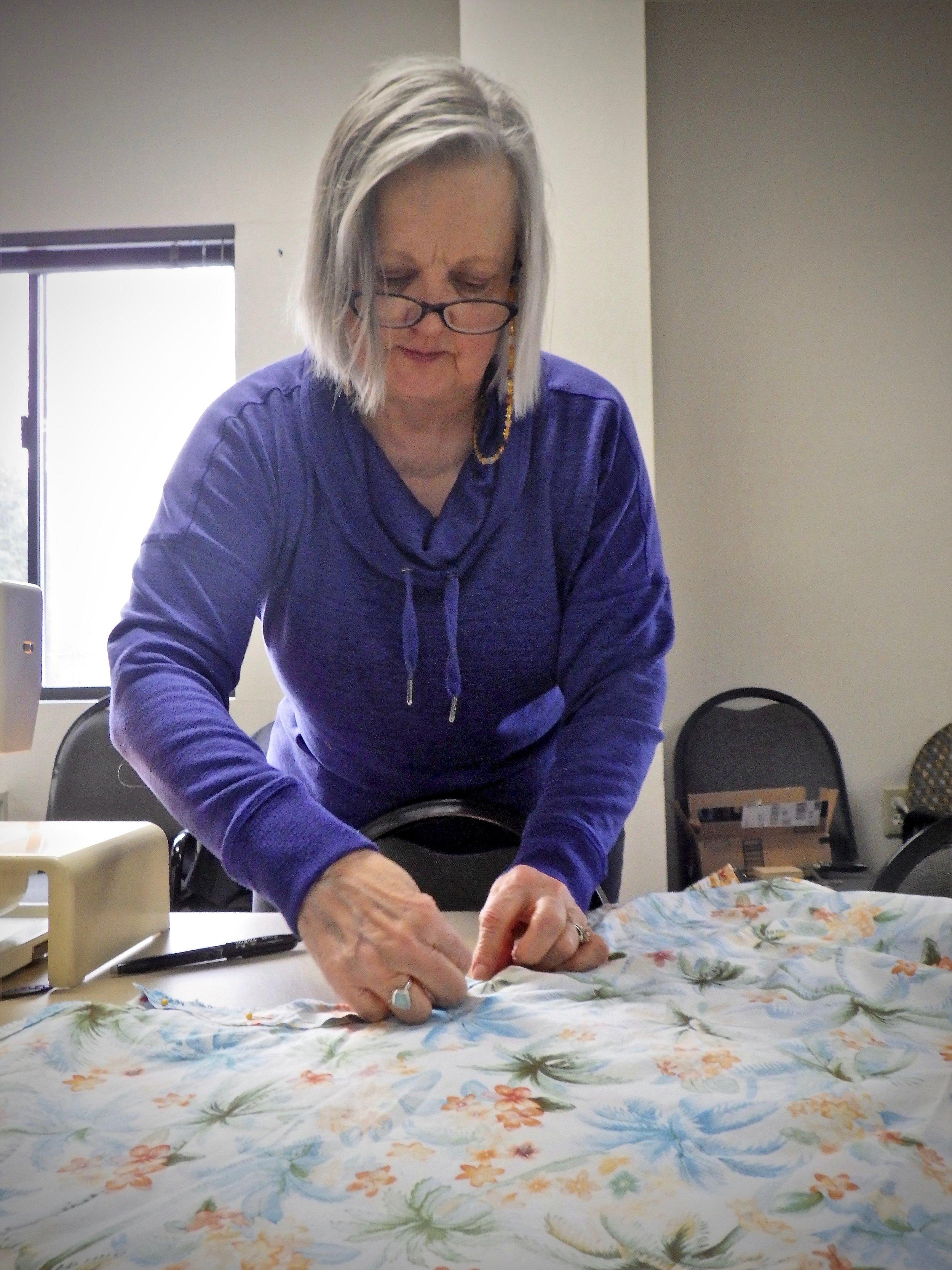 Julia mending clothing // Kate Bobal