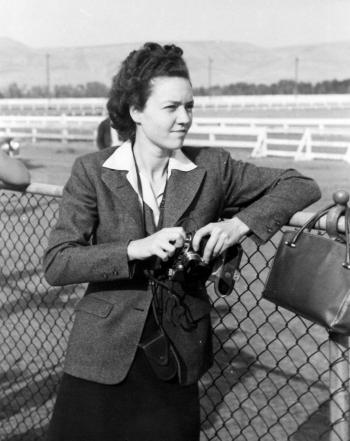 Marjorie Duryee with Leica camera // Unknown