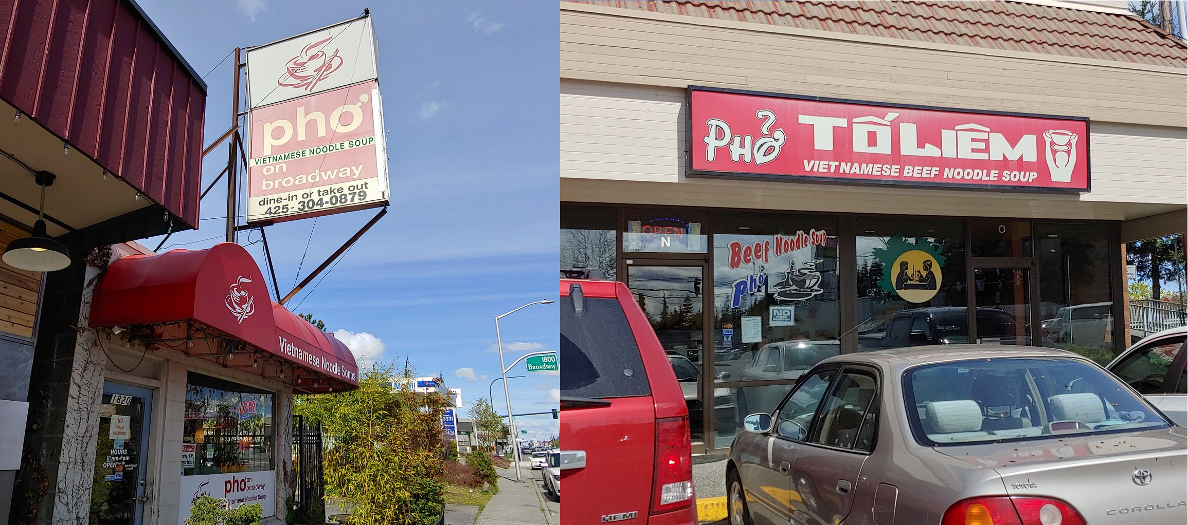 North Everett's Pho on Broadway, Pho To Liem on Casino Road // Christopher Bragg