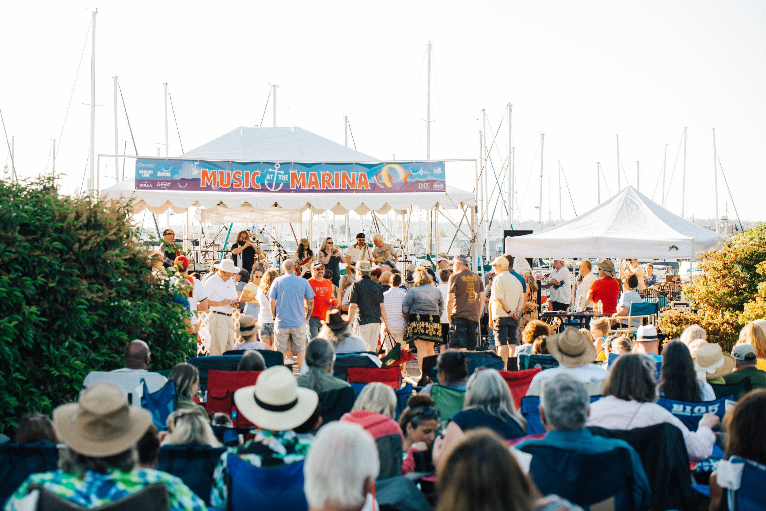 The BB King Blues Band at Music at the Marina in 2017 // Courtesy Jake Campbell