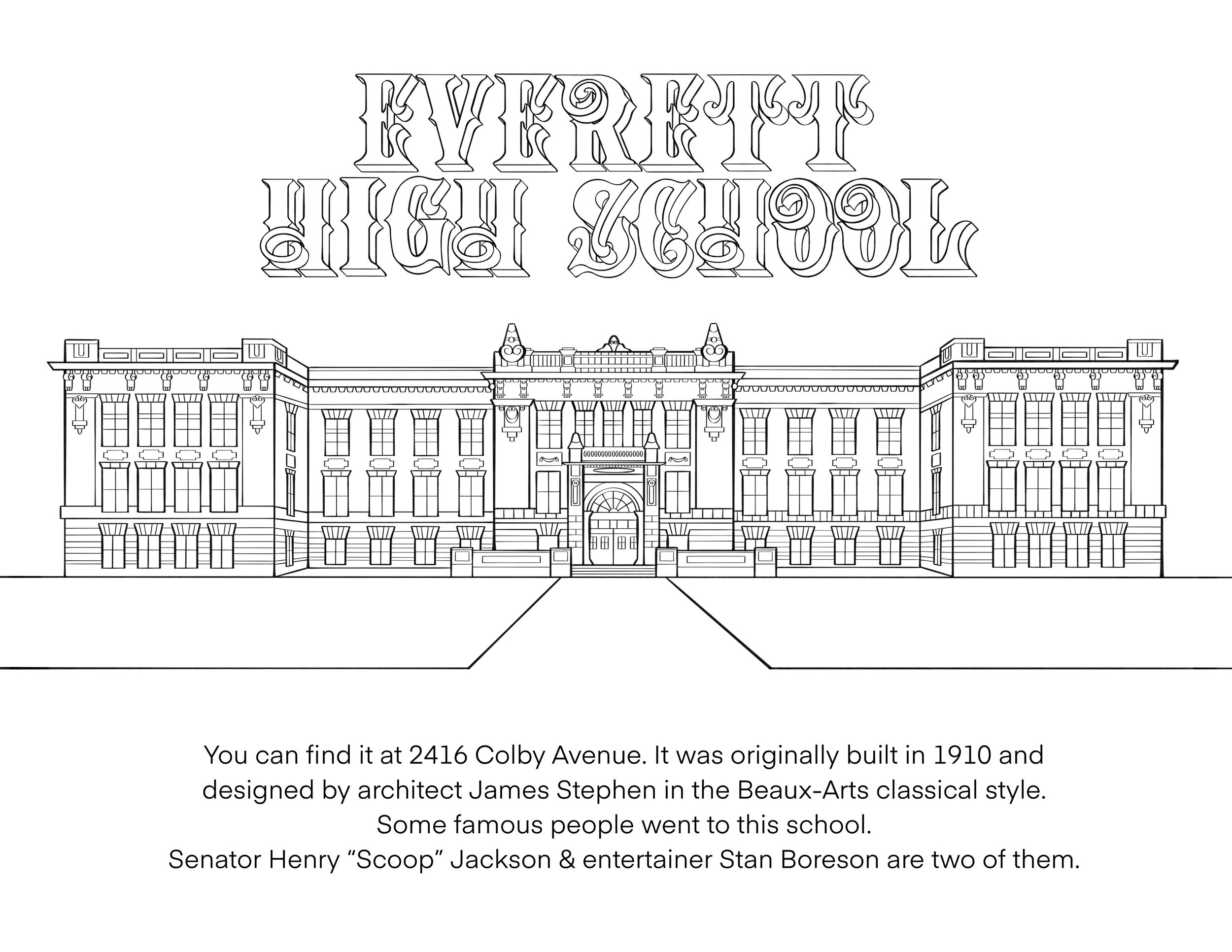 Coloring History The Story Behind Historic Everett S New Coloring Book Live In Everett