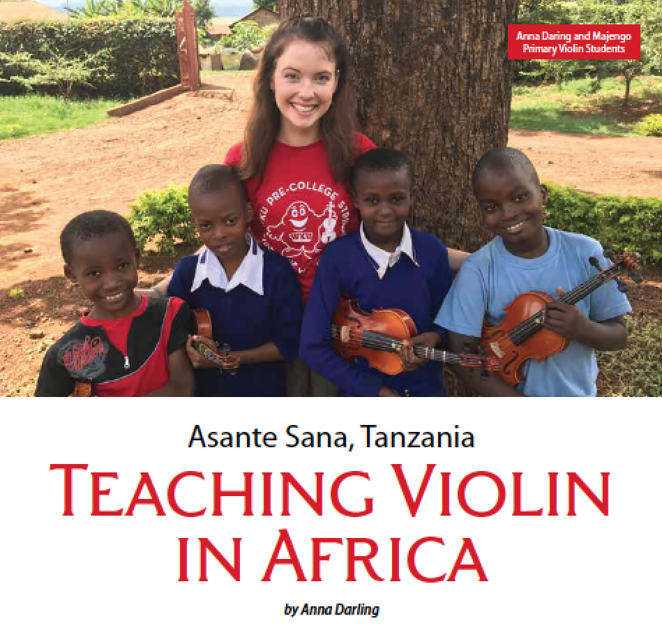 Click to Read about Anna's trip to Moshi, Tanzania on page 14.