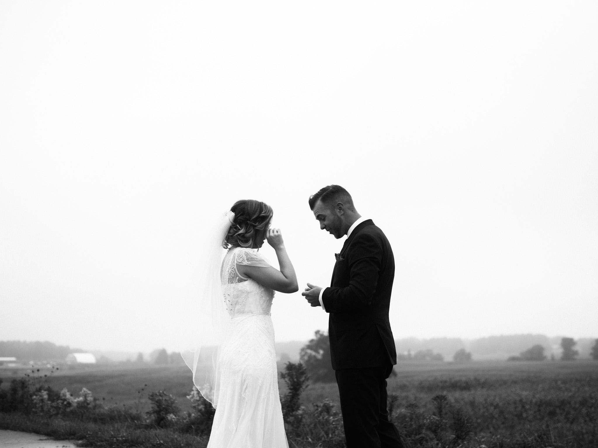 halifax wedding photographer in open field