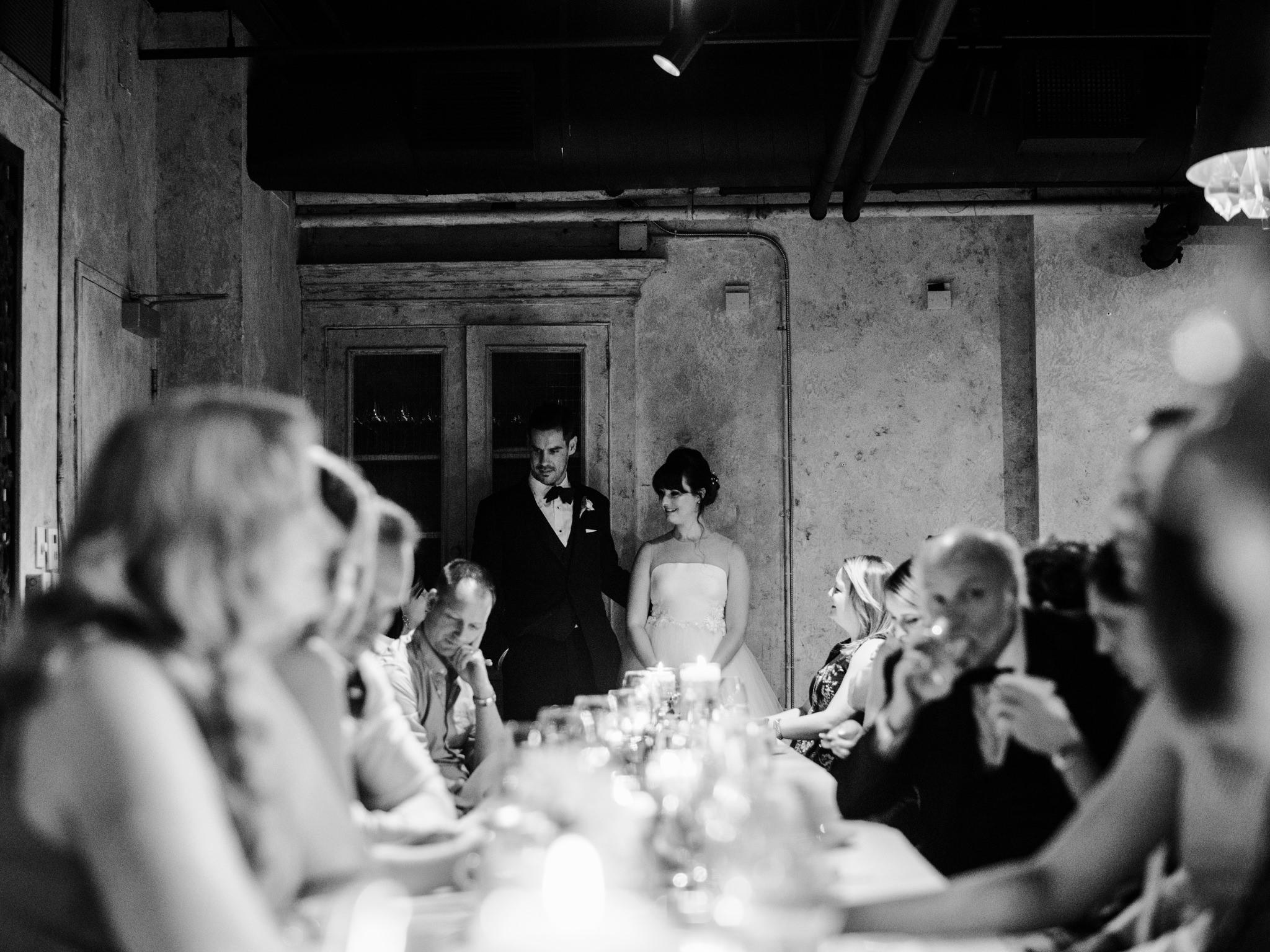 intimate toronto wedding reception