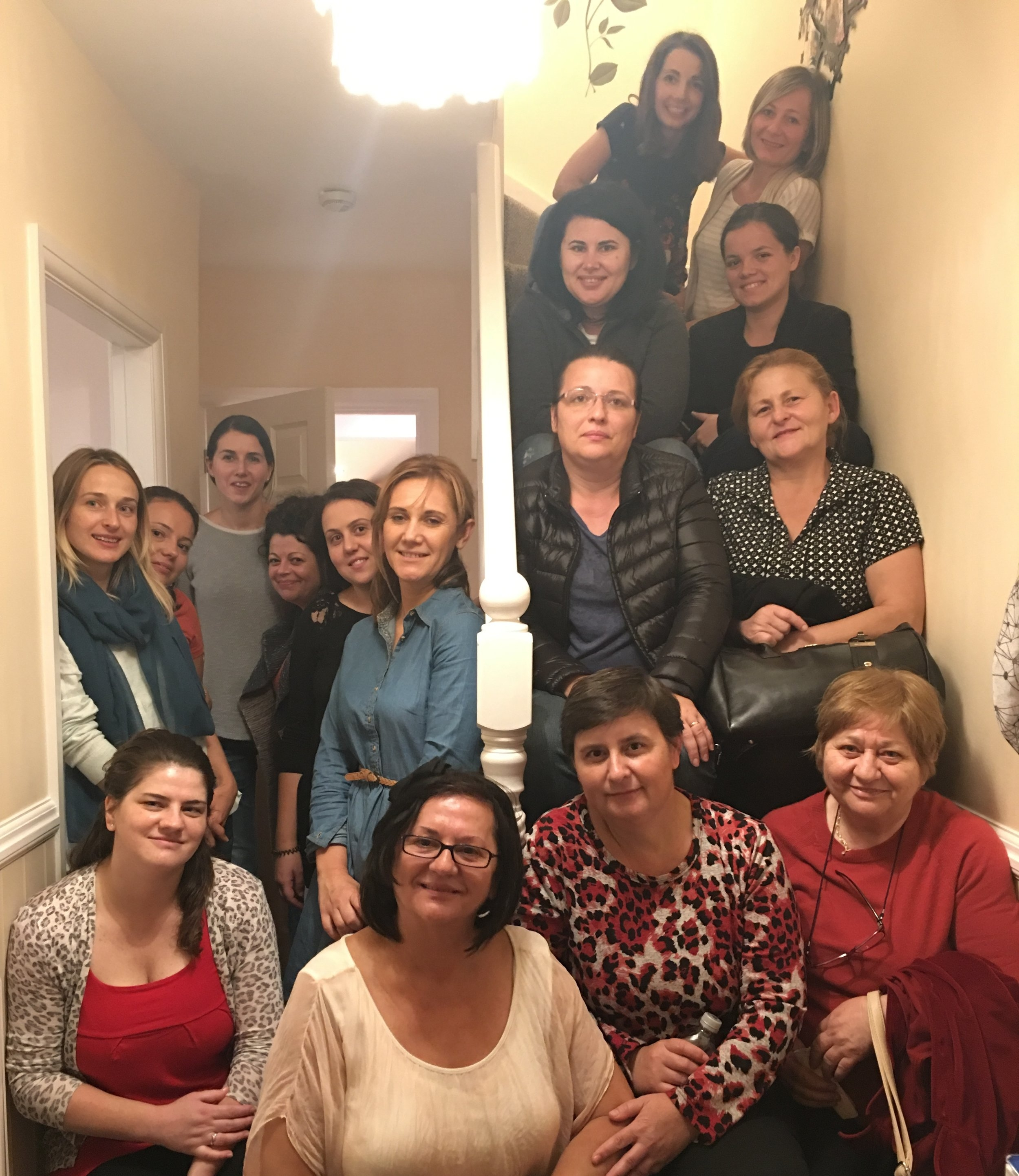 Fellowship with the ladies from Victory Romanian Baptist Church. What an honor and pleasure to meet these women.