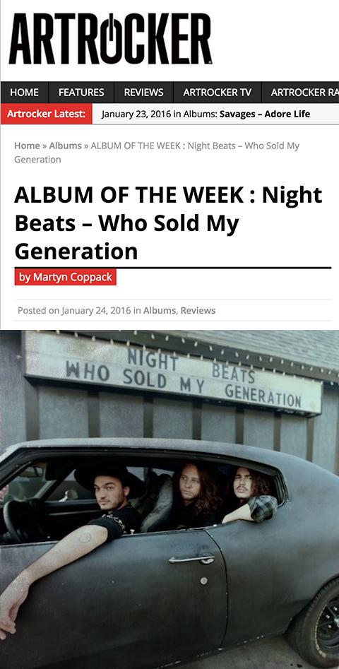 Night Beats Artrocker Album of the Week