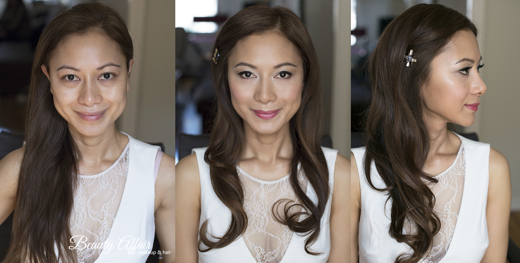 Glowing asian bridal makeup and hairstyle big waves by Agne Beauty Affair Los Angeles Beauty.jpg