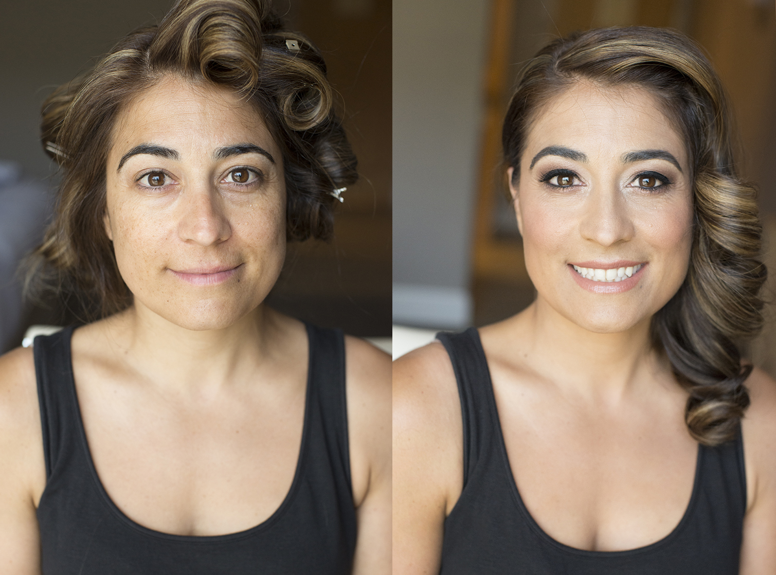 Makeup and hair by Agne Beauty Affair for Emmy's red carpet before and After.jpg
