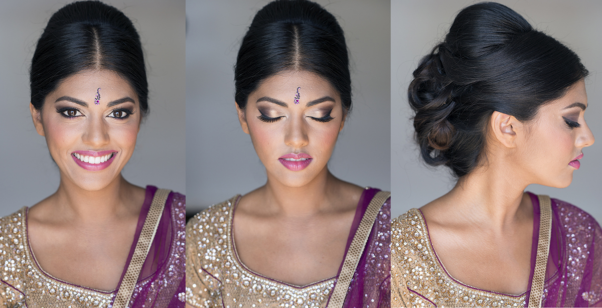 Before and after indian natural headshot makeup and hair by Agne Beauty Affair event celebration bridal pink gold smokey eyes copy.jpg