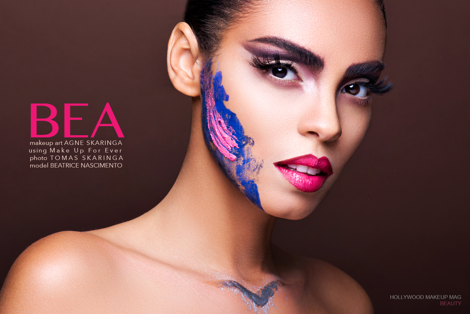 Hollywood makeup mag beauty makeup editorial colors Makeup For Ever Mufe Agne Skaringa Tomas.jpg