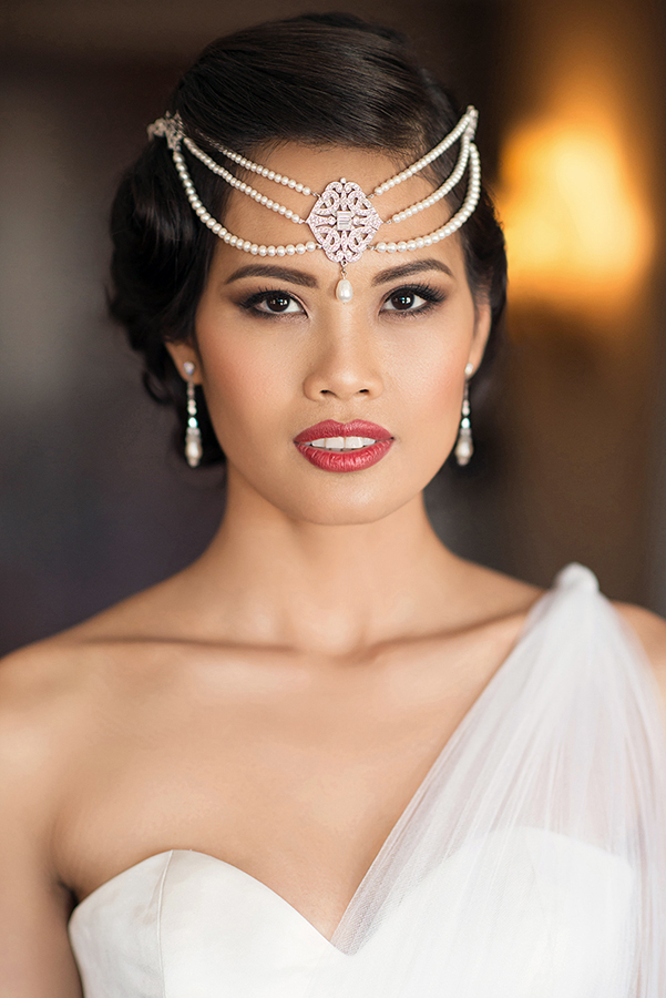 Bridal makeup goddess crown red lips asian brown smokey eyes Beauty Affair.jpg
