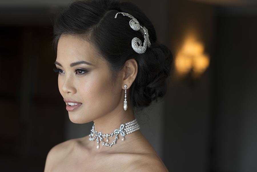 asian bridal makeup natural brown coral lips smokey eyes glamourous bride  Beauty Affair Agne Skaringa.jpg