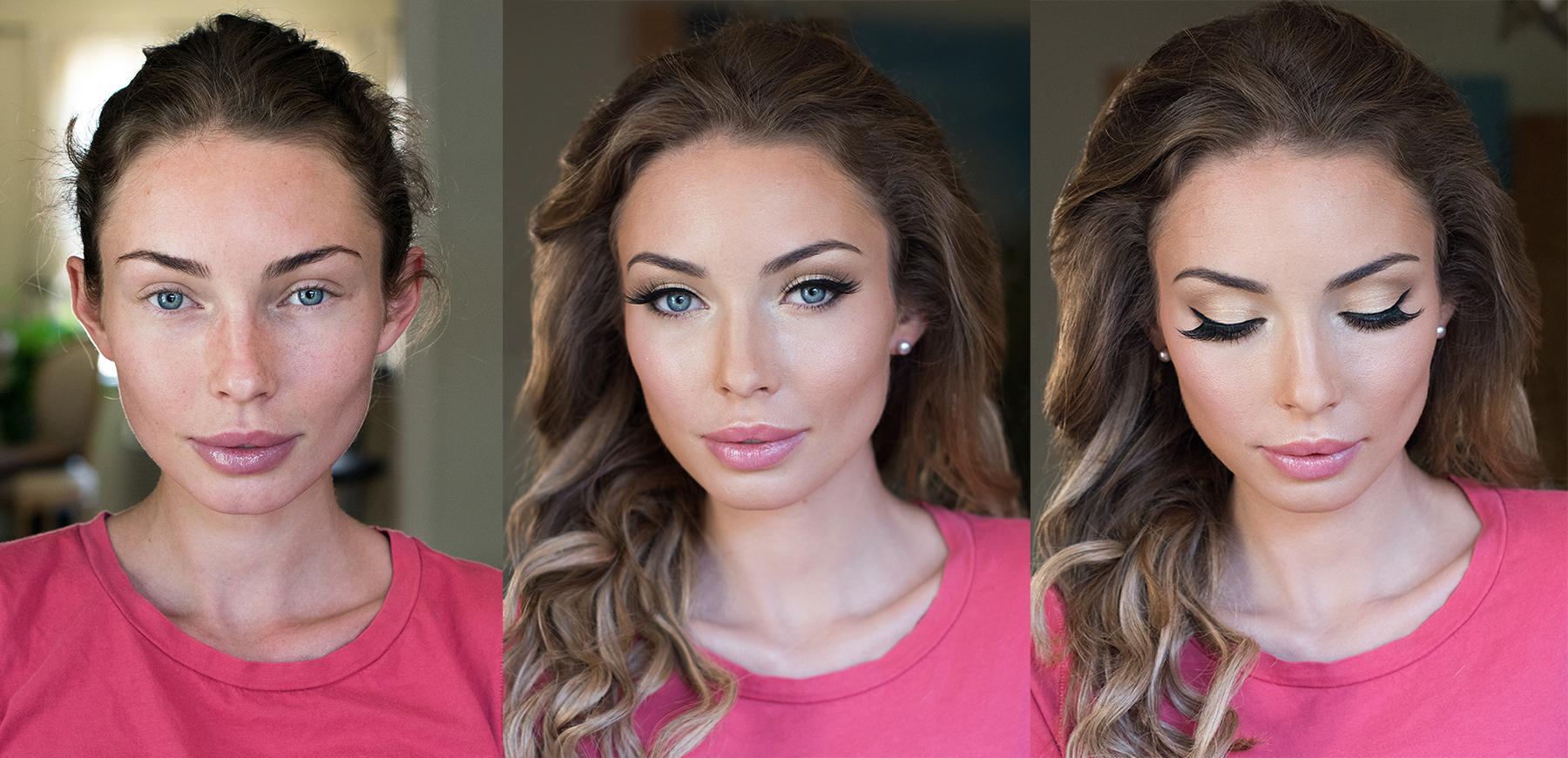 blue eyes blonde makeup eyeliner pink lips natural glam Before and after beauty affair.jpg