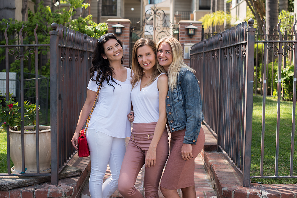 From left Sara, Agne and Kerin