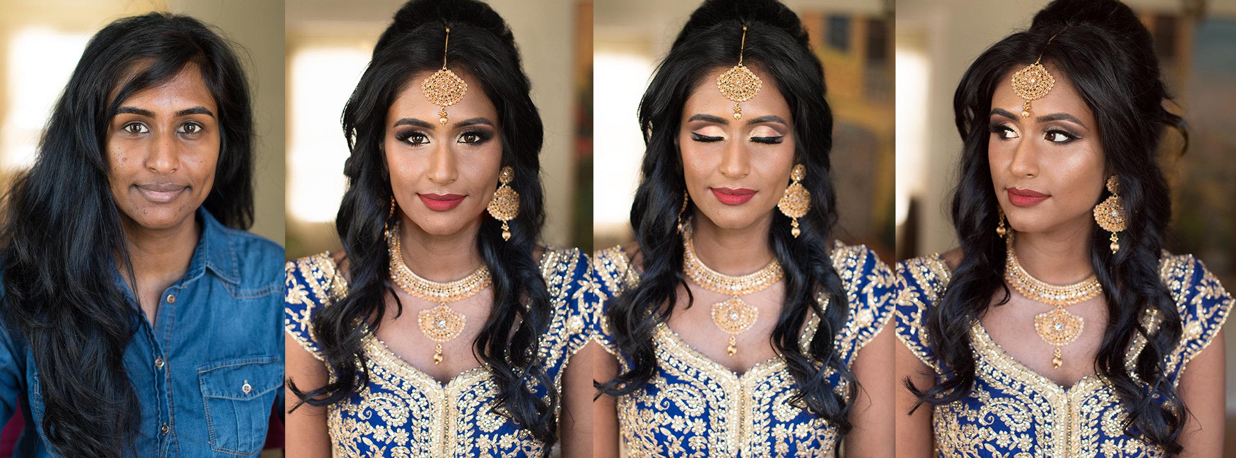 South Asian bride indian Bridal blue red gold wedding Beauty Affair .jpg