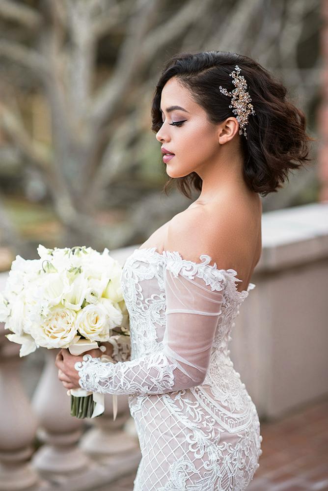 Glamorous bride glam short mauve makeup hair beauty affair la los angeles.jpg