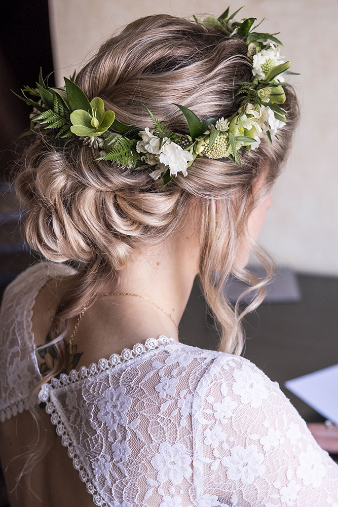 boho romantic bohemian bridal wedding low updo flowers LA Los Angeles Beauty Affair.jpg