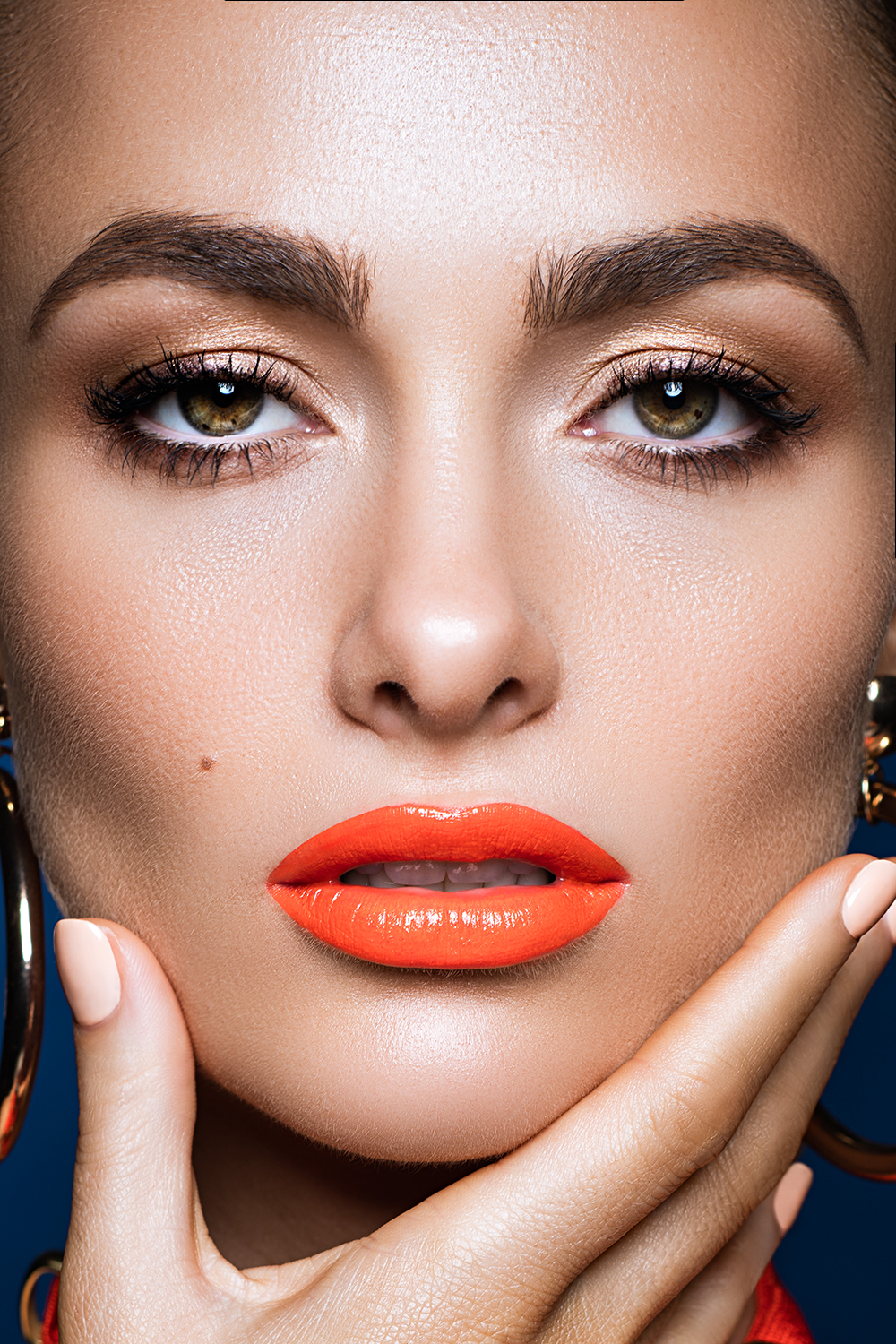 m Glowing skin orange lipstick beauty editorial.jpg