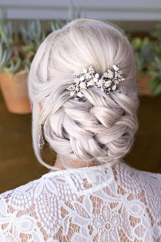m Hair LA Los Angeles updo glam Bridal wedding makeup and hair updo blonde simple classy elegant Beauty Affair.jpg