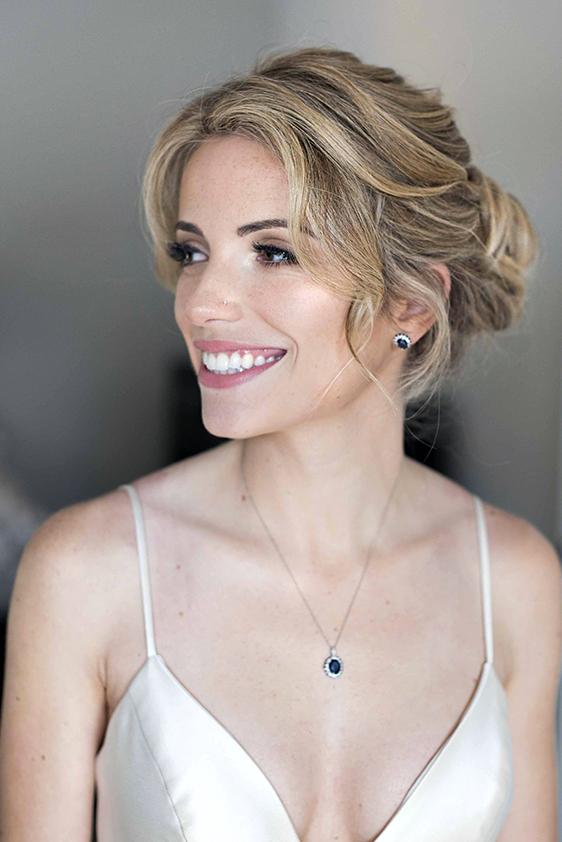 LA Los Angeles Bridal wedding makeup and hair updo blonde simple classy elegant Beauty Affair_3.JPG
