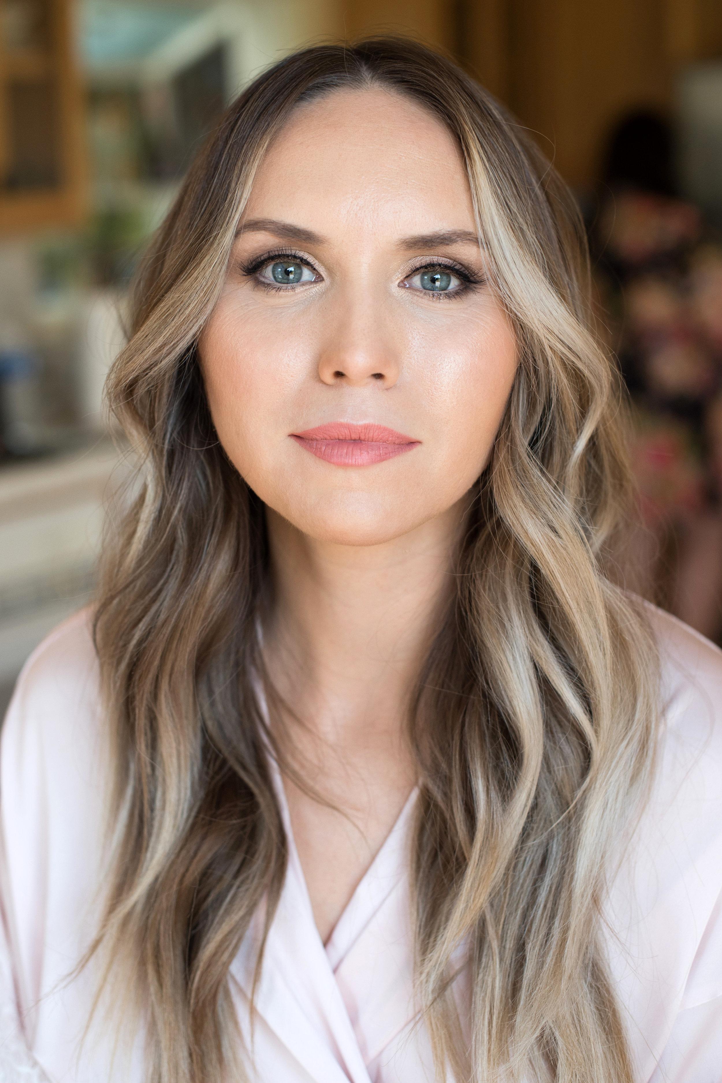 Bridal natural glowing makeup blue eyes and hair long wavy by Beauty Affair_5.jpg
