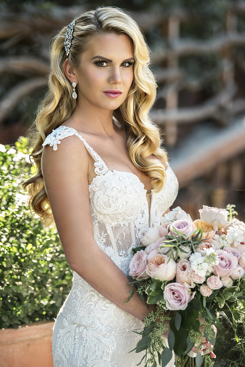 Glamorous bridal makeup and hair wave pink lips by beauty affair.jpg