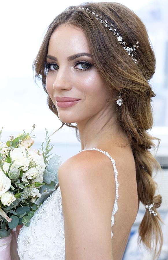 glam glowing makeup smokey eyes Bridal hair braid by beauty Affair.jpg