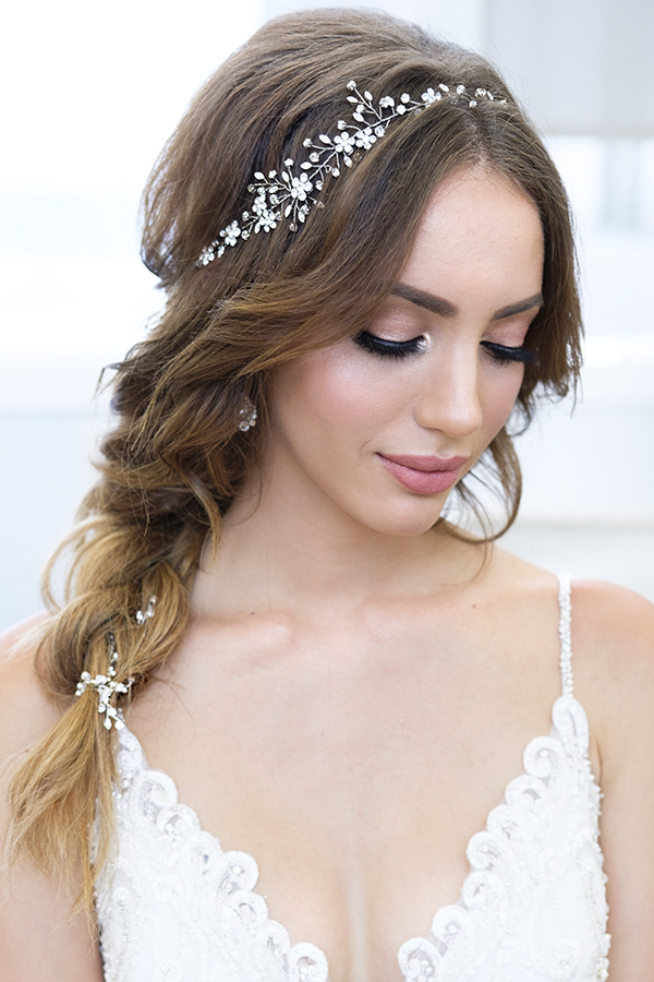glam rose glowing makeup smokey eyes Bridal hair braid by beauty Affair.jpg