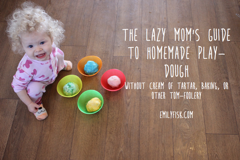 Homemade Playdough Recipe from emilyfisk.com