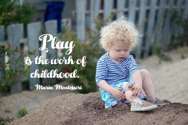 Play is the work of childhood // emilyfisk.com