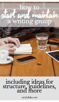 How to start a writing group, with ideas for structure, submissions, guidelines, and leadership. This is a helpful resource for writers who've wanted to start a group but aren't sure where to begin. So useful!
