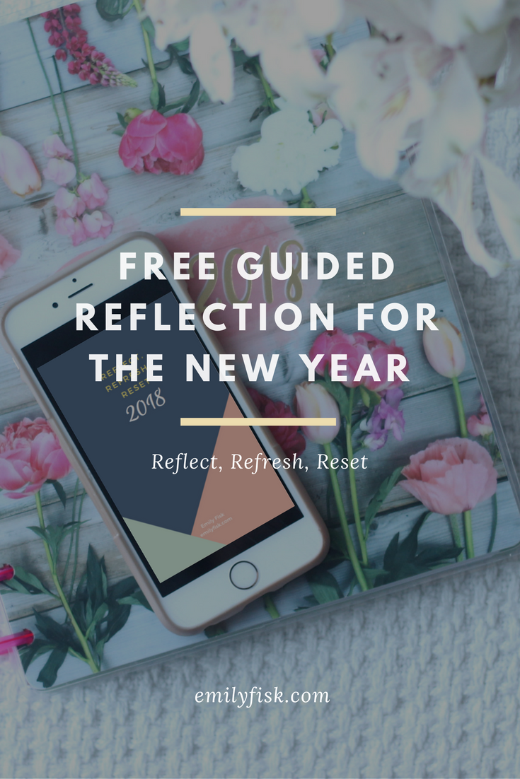FREE downloadable guided reflection for contentment and peace in the new year.