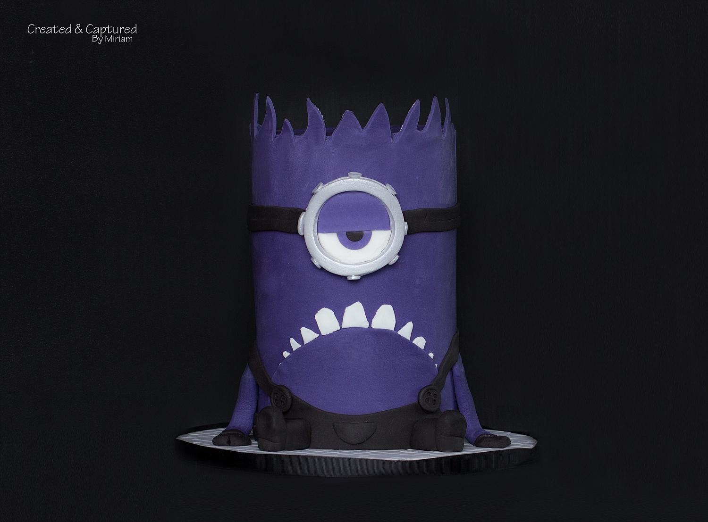 Purple Minion Cake
