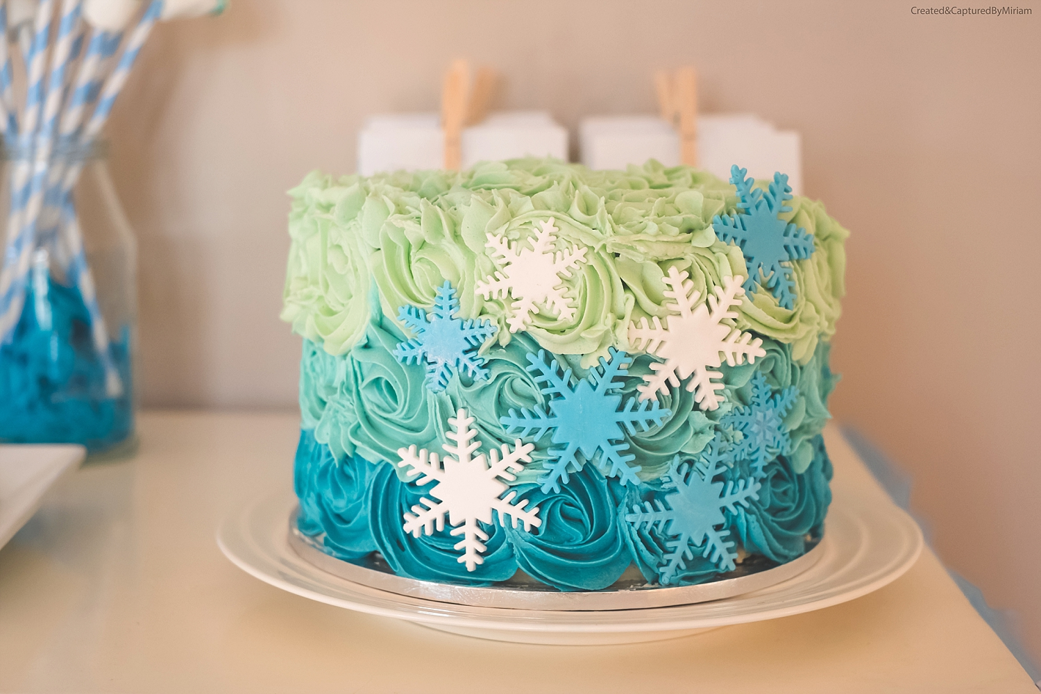 Frozen Buttercream Cake