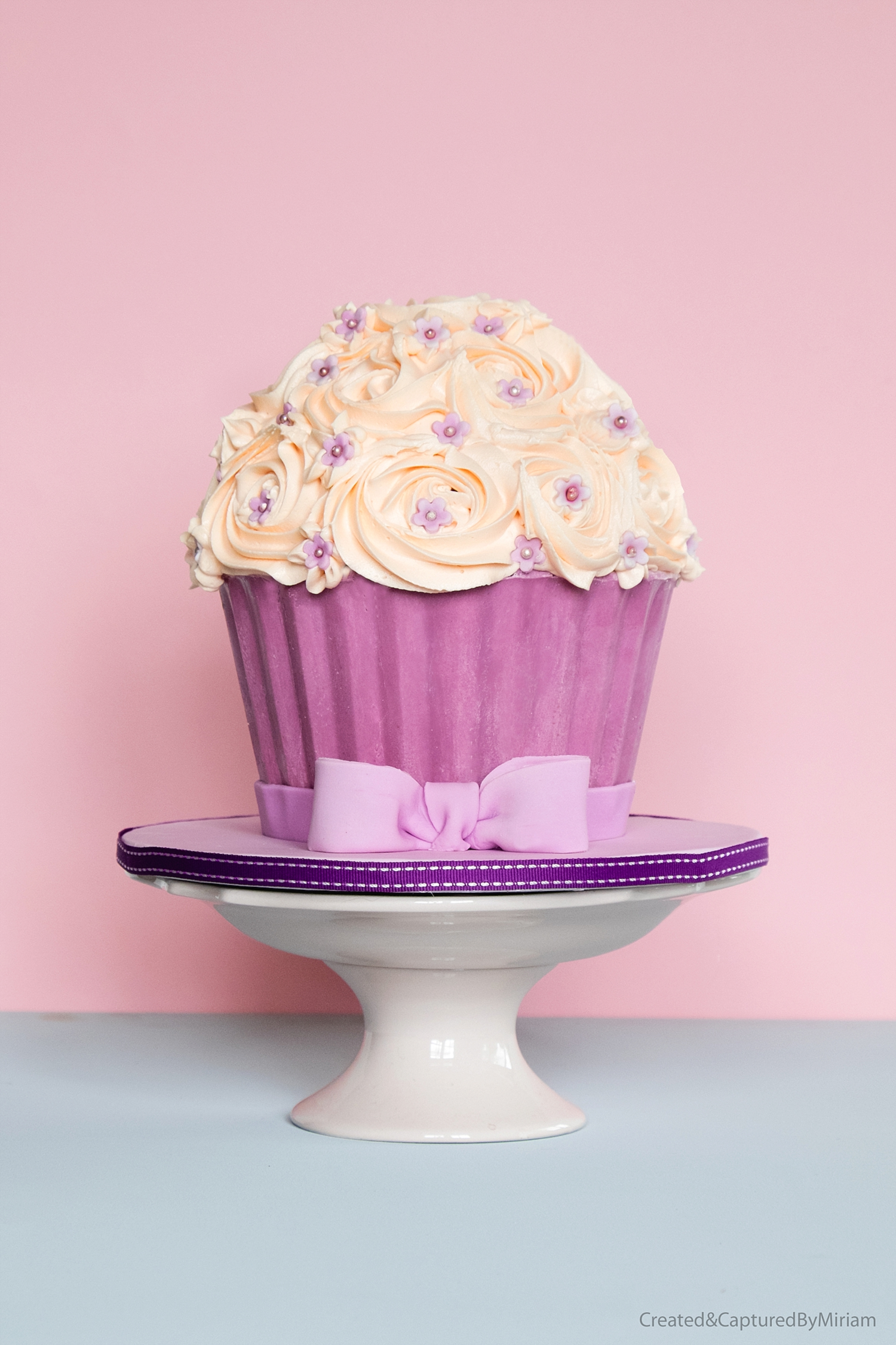 Pink Buttercream Giant Cupcake
