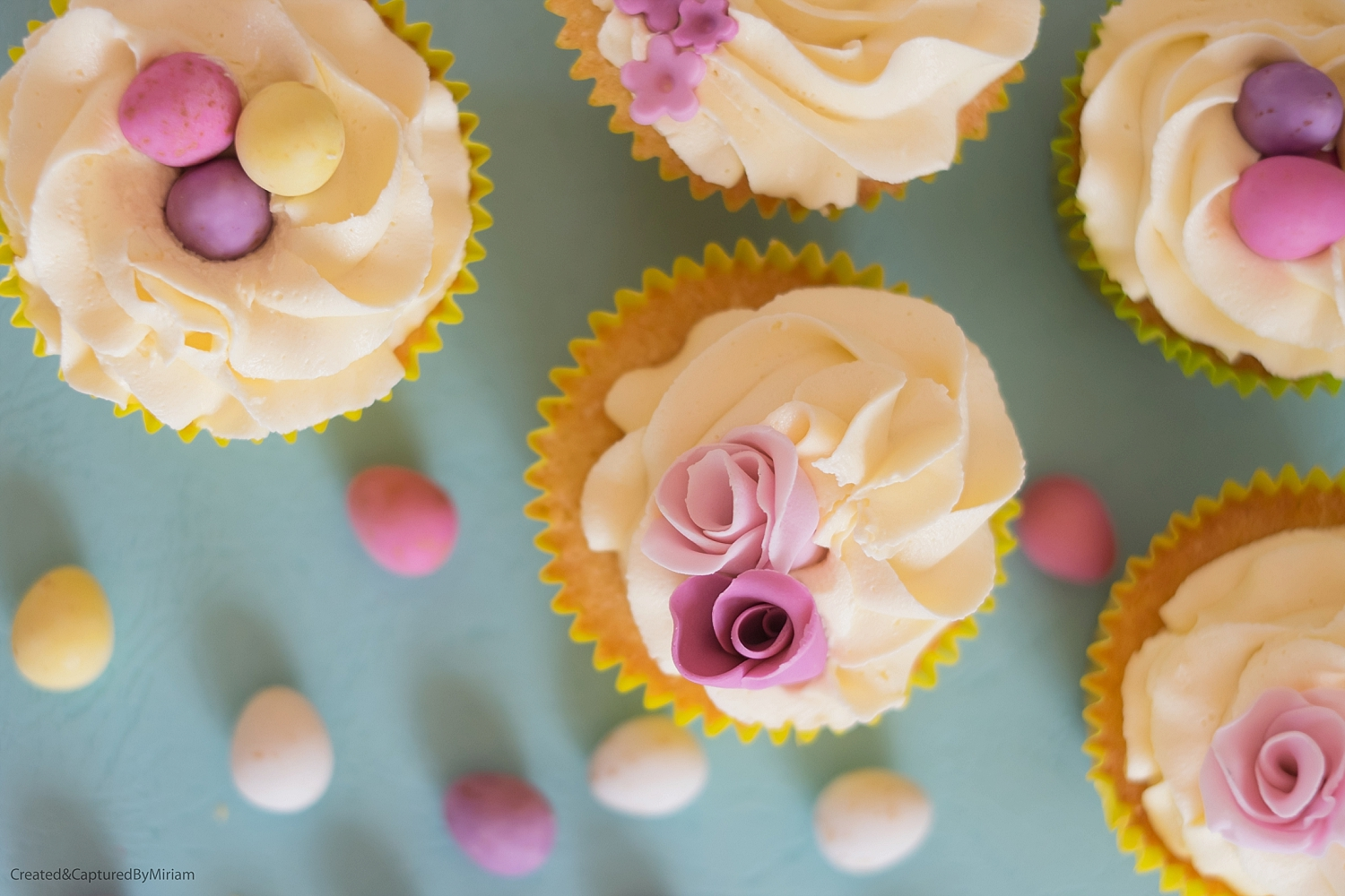 Easter Floral Cupcakes